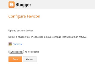 Configure favicon on Blogger