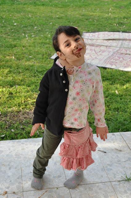 Half-boy-half-girl costume