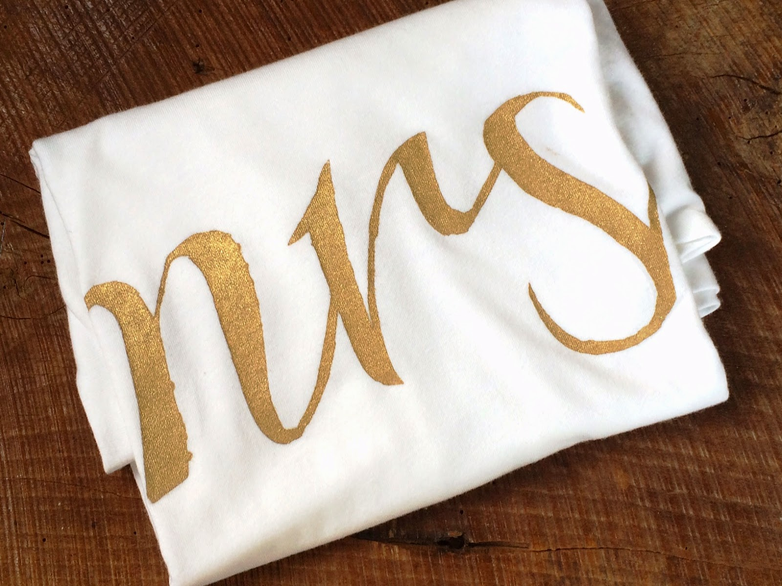 Made In The Shade Shop on Etsy - Gold Mrs Shirt