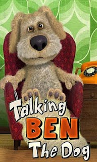 Screenshots of the Talking Ben the Dog for Android tablet, phone.
