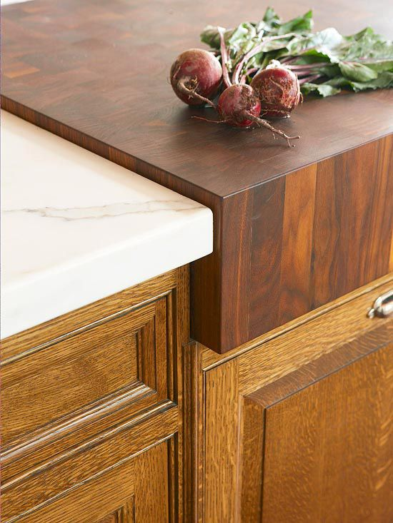 Kitchen countertops our choices dwellings the heart of your home - Marble chopping block ...