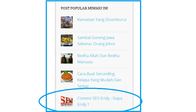 5 Post Popular Minggu Ini