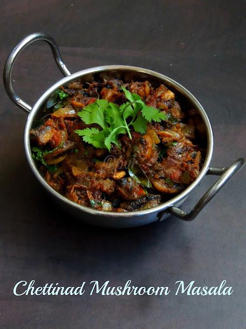 Chettinad Mushroom Masala, Mushroom Curry