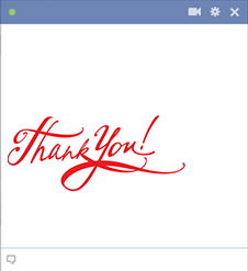 Thank you emoticon for Facebook