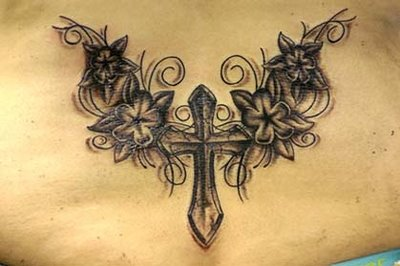 for tribal tattoos back cross Cross Tribal Gothic Tattoos