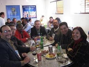 Jornalista: Nelson Silva e seus colegas na cobertura da expointer 2011