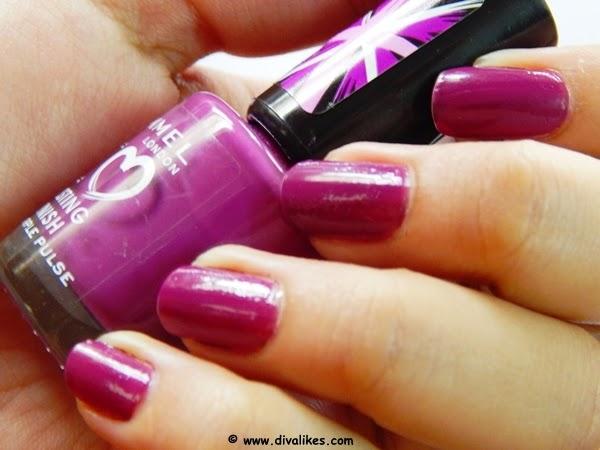 Rimmel London I Love Lasting Finish Nail Polish Purple Pulse Review ...