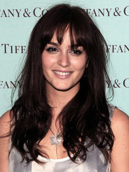 Leighton Meester Round Face Shape Hairstyles