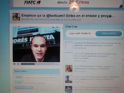 Iniesta Twitcam