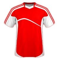 Desain Jersey Gratis Sepakbola dan futsal merah putih
