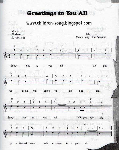 Greetings to You All Song with Notes and Chords