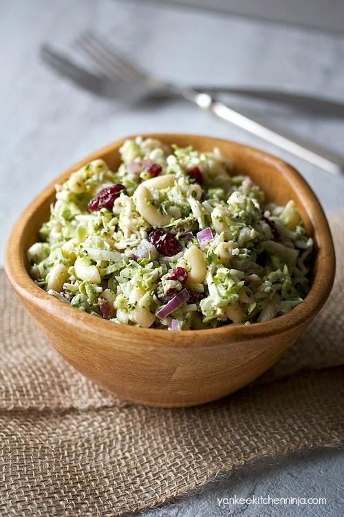 lightened broccoli slaw pasta salad