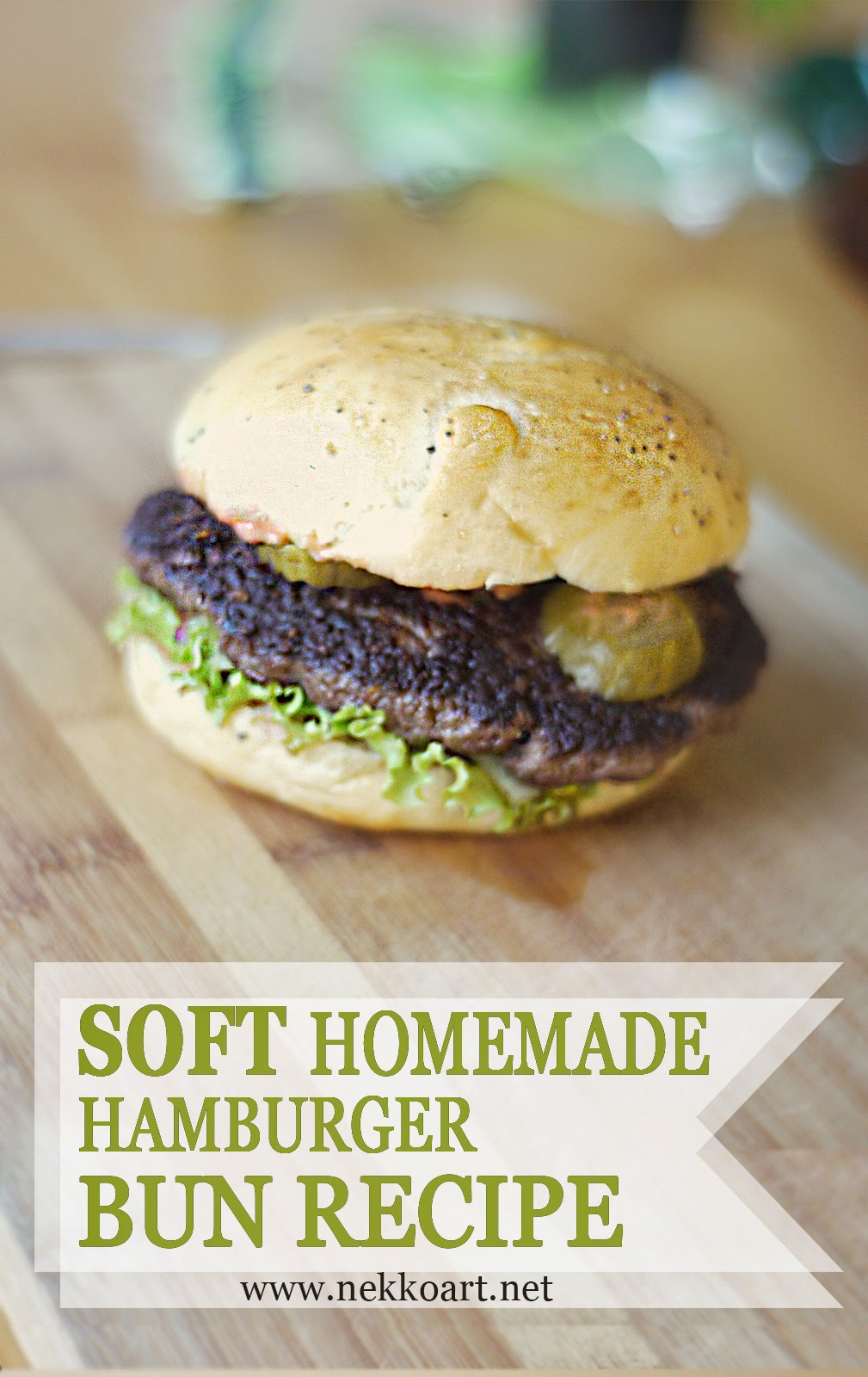 Soft Homemade Hamburger Buns Recipe