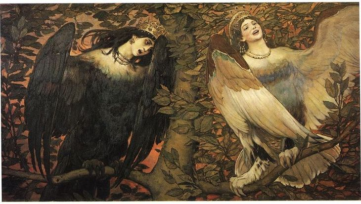 Sirins............... Largesizepaints-blogspot-com-viktor-vasnetsov-sirin-left-and-alkonost-right-birds-of-joy-and-sorrow