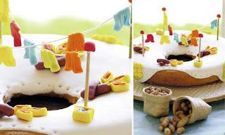 Comidas para festa junina Bolo de Fubá decorado para Festa Junina