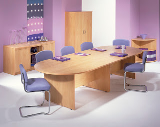 beech boardroom table cantilever chairs
