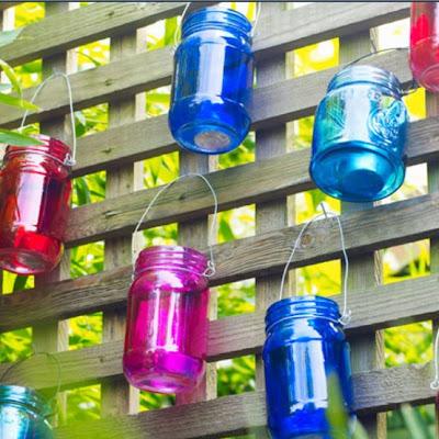 Tarros de cristal de color