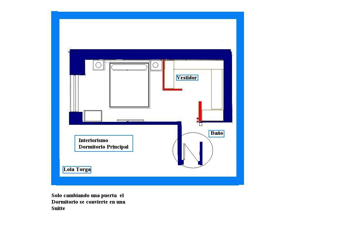 Baño En Dormitorio Pequeno:Interiorismo y Decoracion Lola Torga: Medidas para un vestidor