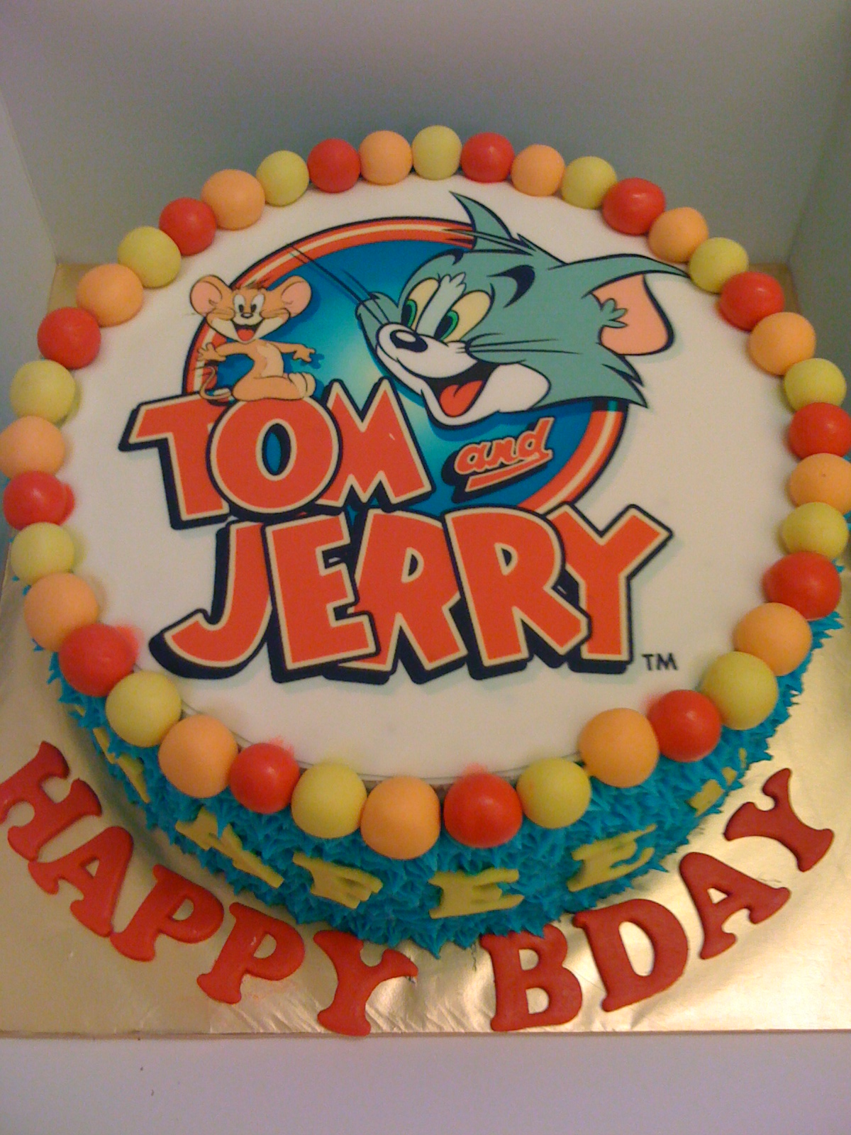 Cake Cupboard Tom And Jerry Edible Image