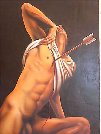image of nude male in art