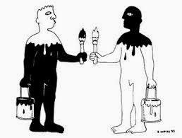 Chiste de hombres, negro, blanco, amigo.