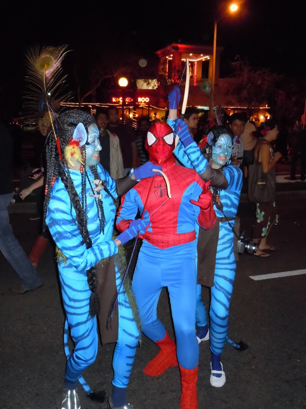 Avatar aliens West Hollywood Halloween Carnaval 2010