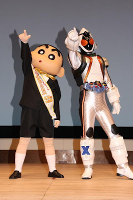 Kamen Rider Fourze, Shin-chan Crossover!