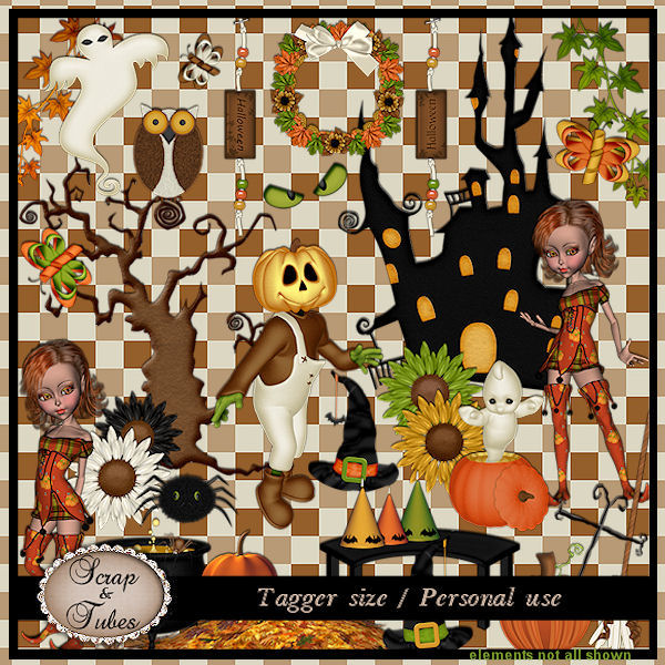 Freebie A Halloween Day Pu Scrap And Tubes Designs