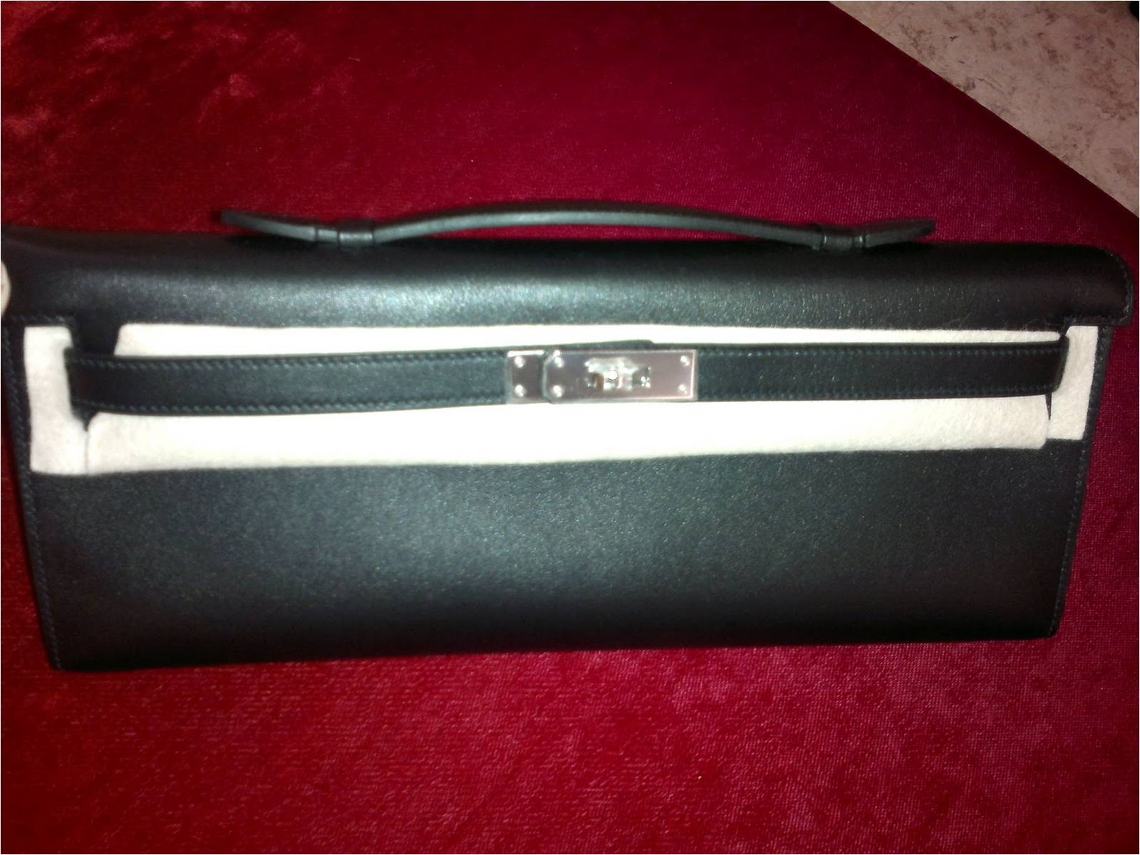 hermes black kelly cut palladium hardware