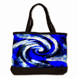 NEW!! Mod Blue Swirl Shoulder Bag