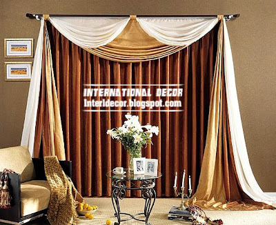 best curtain models 2015, unique draperies, brown scarf curtain for living room