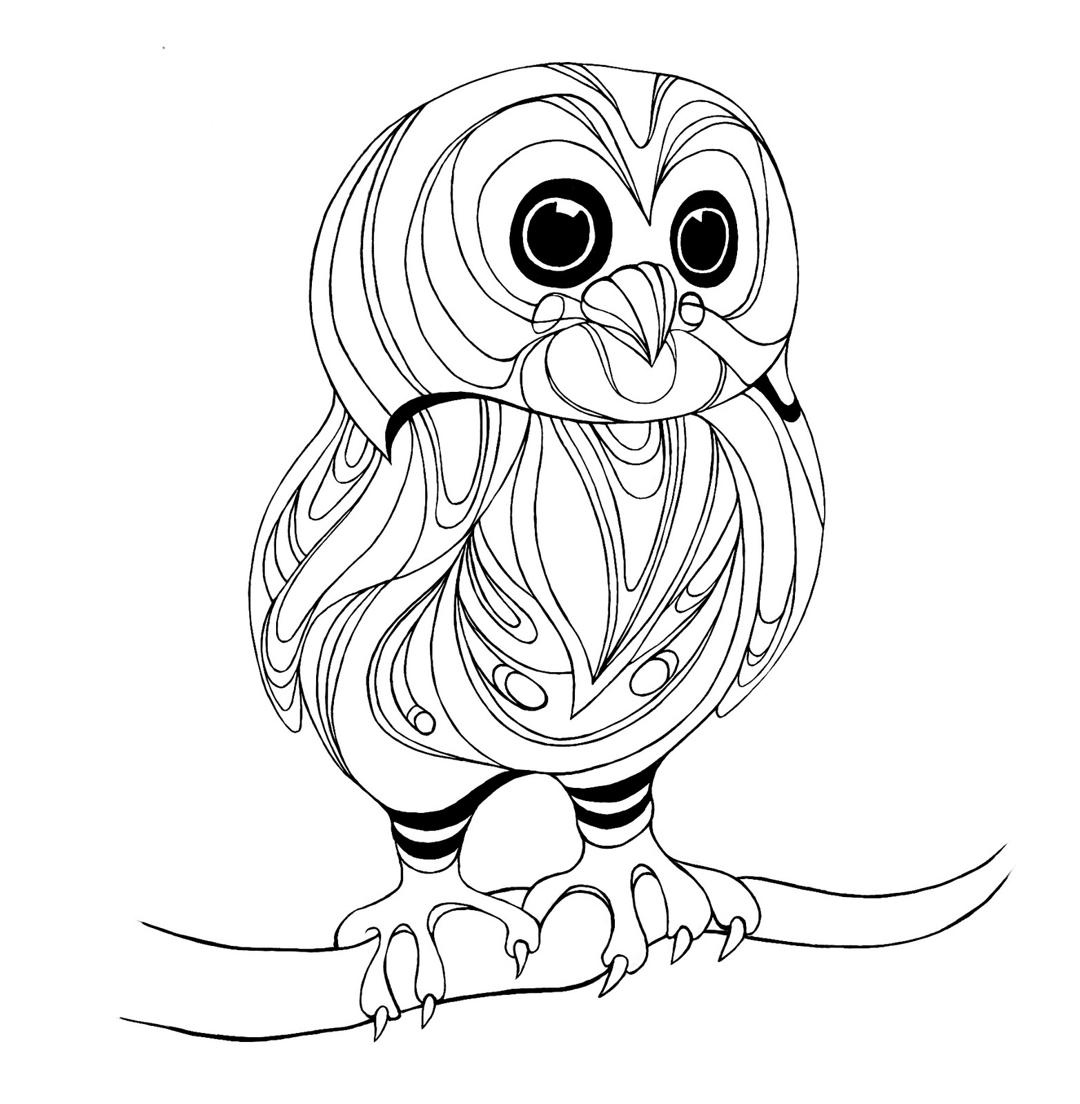 Owls To Color On Pinterest