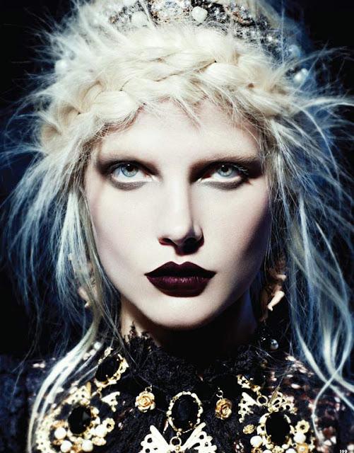 platinum blond gothic babe
