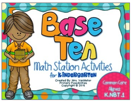 http://www.teacherspayteachers.com/Product/Base-Ten-Math-Stations-Kindergarten-Common-Core-Aligned-1098144