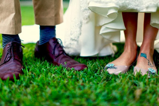 romantic wedding shoes ideas for groom and bride