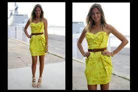 modelo de vestido tomara que caia amarelo - dicas e fotos