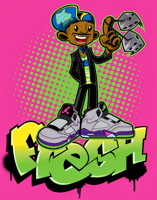"""Fresh"" The Fresh Prince of Bel-Air Print by Tracy Tubera"