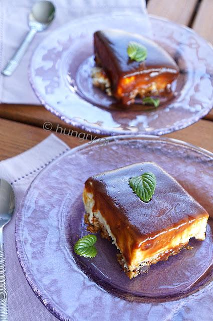 Dessert with Caramel Frosting