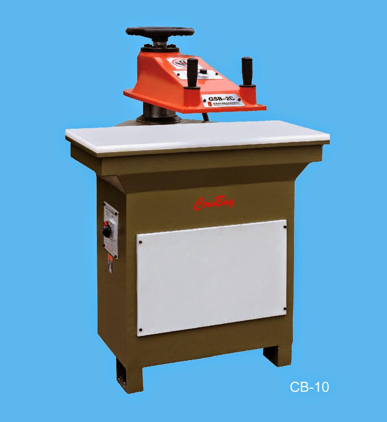 Heavy duty industrial sewing machines: Cowboy CB-10, CB-12, CB-16, and CB-20 Hydraulic Clicker Press