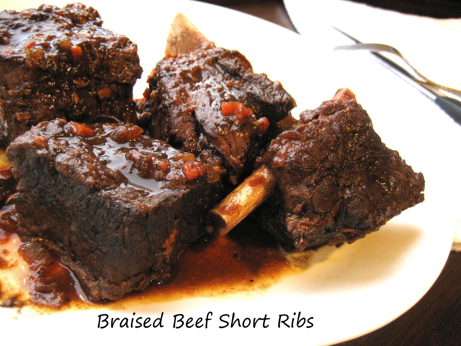 braised beef short ribs i love braised meats probably because the meat ...