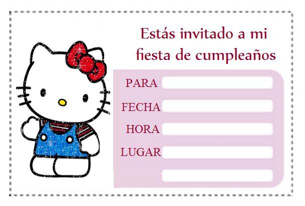 Invitación cumpleaños Hello Kitty | Area Infantil
