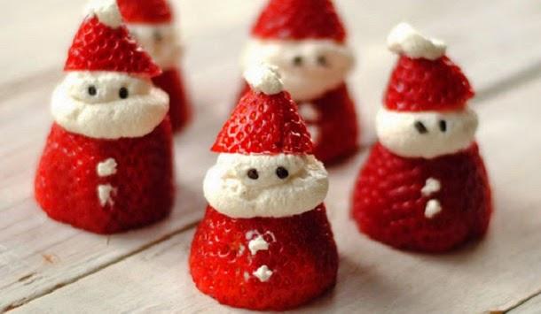 Receita de Papai Noel de morango