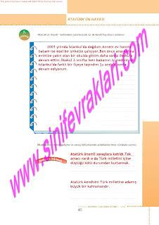 6.Sinif  Turkce Doku Yayinlari Ogrenci Calisma Kitabi Sayfa 45