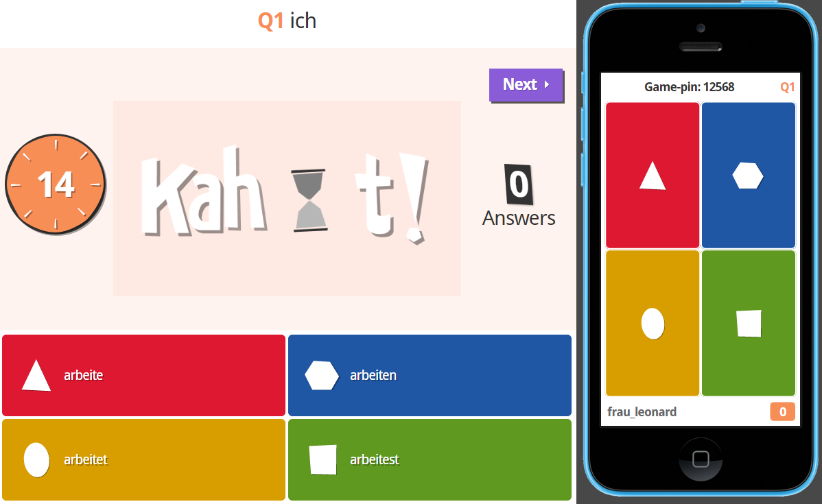The German Sektor: Daily Drills with Kahoot