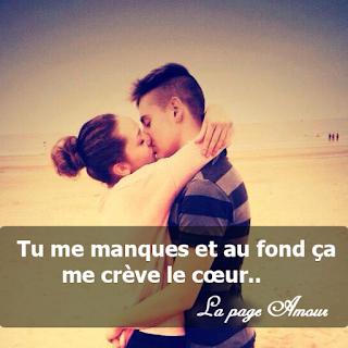 Poème d'amour  SMS d'amour tu me manque et phrase sur l'amour