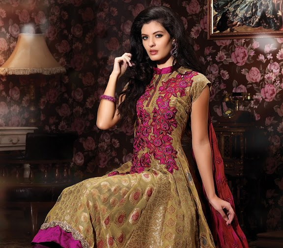Frocks By Anarkali l 2013 - 2014 Anarkali Bridal Dress Collection
