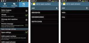 how to add sms to spam on samsung nexus