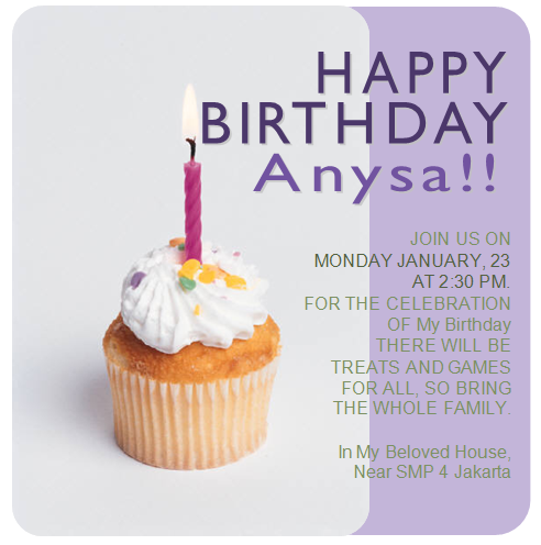 Contoh Undangan Ulang Tahun Birthday Invitation