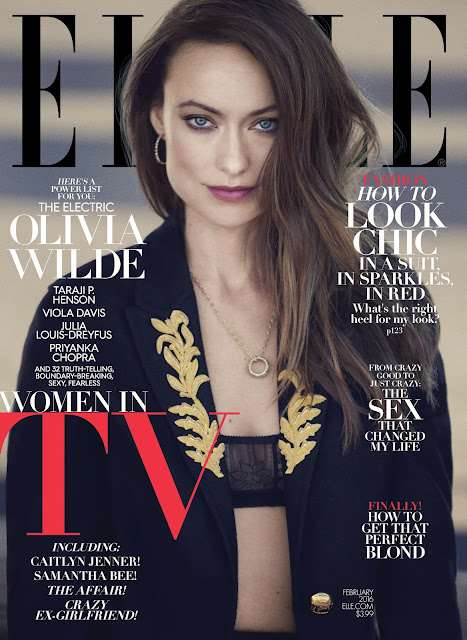 Actress, Model, @ Olivia Wilde - Elle Magazine, February 2016