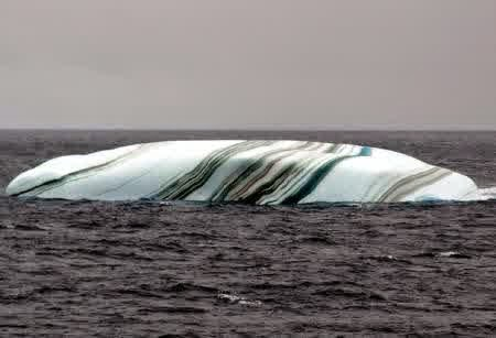 Striped Icebergs, Southern Ocean
